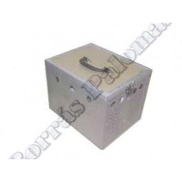 Cesta-transportin 2 comp. en aluminio