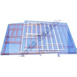 Puertas metal plastificado para nidal mini