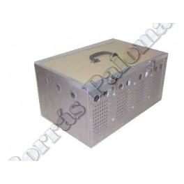 Cesta-transportin 4 comp. en aluminio