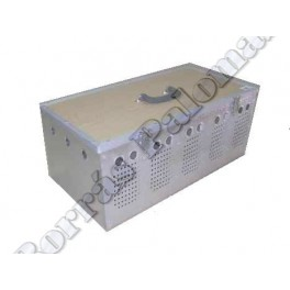 Cesta-transportin 5 comp. en aluminio