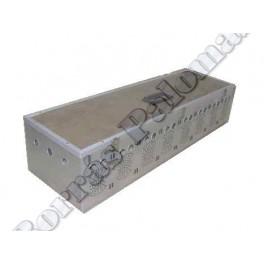 Cesta-transportin 8 comp. en aluminio