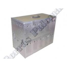 Cesta-transportin doble 2 x 5 comp. en aluminio