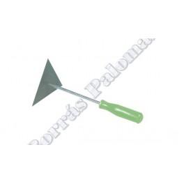 Espátula-raspador triangular de 13 cm.