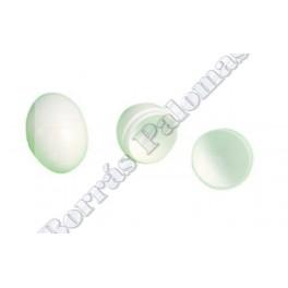 Huevos falsos de plástico.