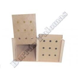 Cesta EN CUÑA de madera 2 compartimentos