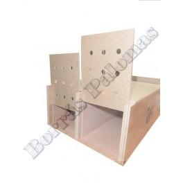 Cesta de madera 4 compartimentos