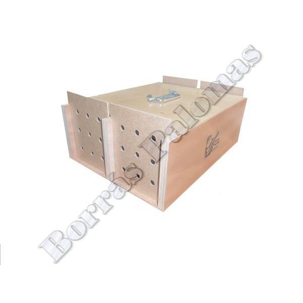 Cesta de madera 4 compartimentos borras palomas - Cestos de madera ...