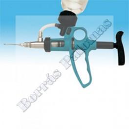 Pistola para vacunar 0,1 a 1 ml.