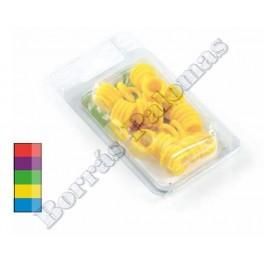 Anillas elásticas 3 mm.(CAJA 50 unidades)